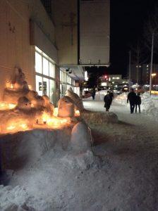 トトロ雪像2